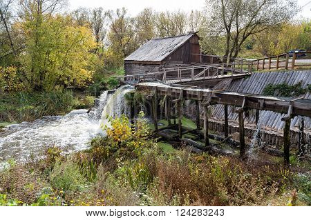 Ancient water mill from the village Krasnikovo. Kursk region. Russia. Built in 1861