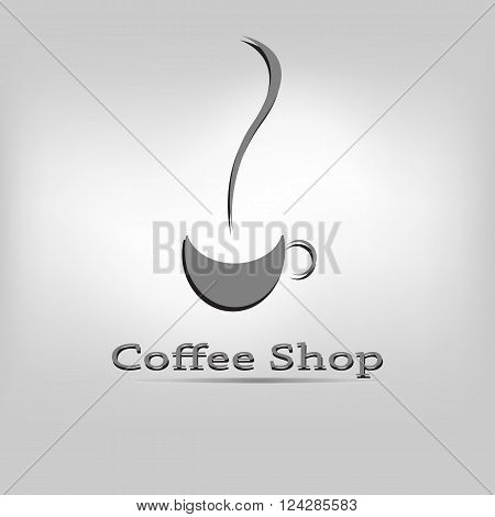 Vector moder icon coffe and tea shop