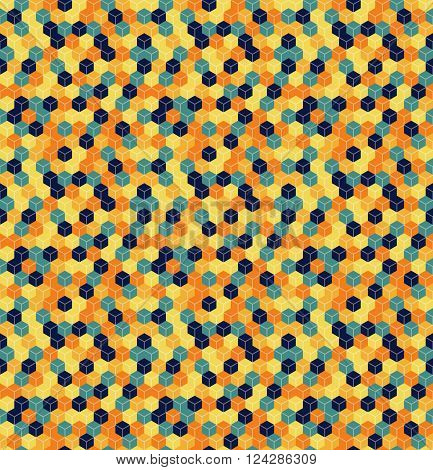 Seamless Hexagonal - Cube, Cubic, Honeycomb; Pattern, 3D Illusion