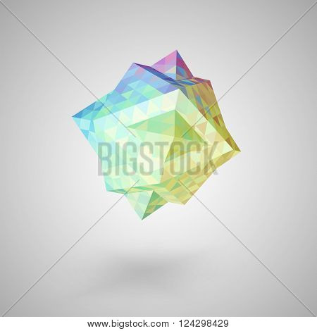 Colorful abstract  mosaic element on white background, vector eps 10 illustration
