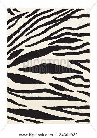 Zebra stripes. Zebra Black animal stripes pattern. Striped background. Zebra skin vintage. African zebra striped background. Vector illustration. For Art, Print, Fabric, Fashion, Web design.