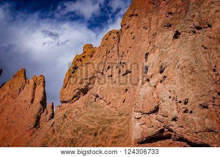 Rock Climbers, Garden of the Gods, Colorado Springs, Colorado