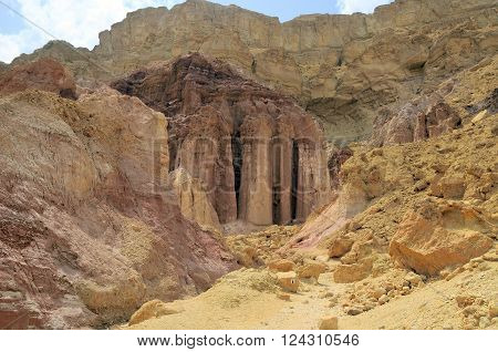Nubian Sandstone formation of Amram Columns Eilat Massi