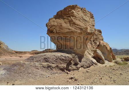 timna national park Sandstone cliffs in Timna Valley
