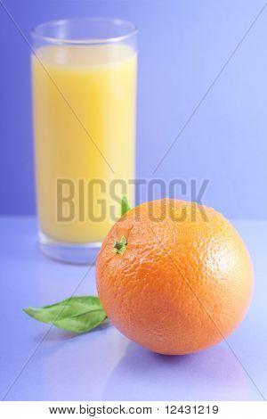 Orange and orange juice.