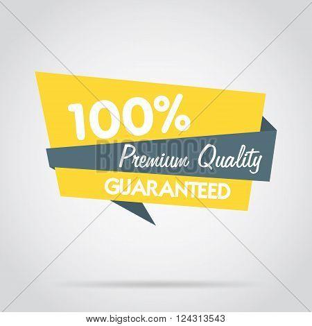 Premium quality stamp flat vector illustration. Design of ad offer stamp. Premium quality stamp. Premium quality sticker. Promo offer. Premium quality badge. Special offer stamp. Premium quality label. Vector icon of premium quality.