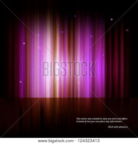 Northern lights, Aurora polaris. Abstract vector shiny background