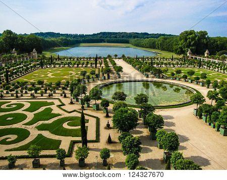 L'Orangerie garden in Versailles. Paris France . ** Note: Soft Focus at 100%, best at smaller sizes