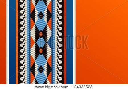 Hot Orange Theme Middle Eastern Traditional Weaving