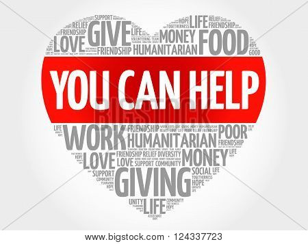 You can help word cloud heart concept, presentation background