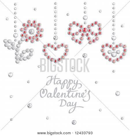 Valentine jewel background