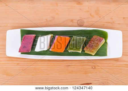 Malaysia popular assorted sweet dessert or simply known as kueh or kuih poster