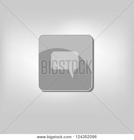 vector icon isolated buble speech dialog symbol