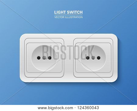 Background with realistic power socket. Vector EPS10 illustration.