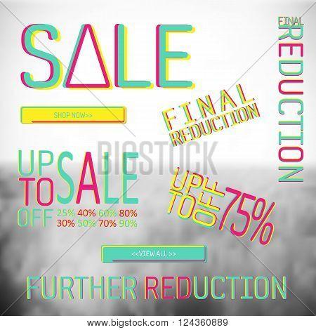 big set of sale banner elemnts background and  poster designs