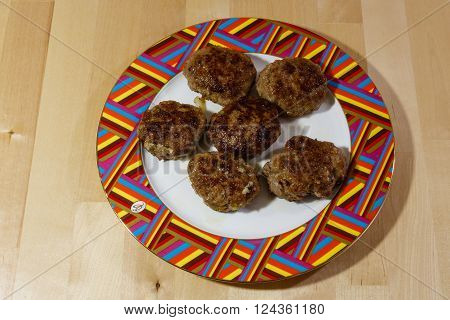 Home-made cutlets made from mincemeat for a lunch