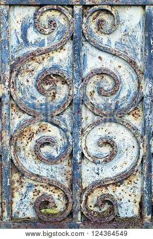 Detail of Ironwork on an Old Door