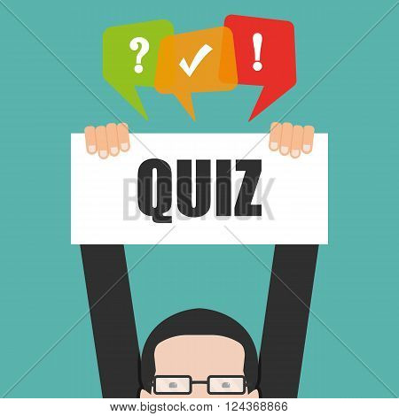 Quiz - vector illustration isolated - icon