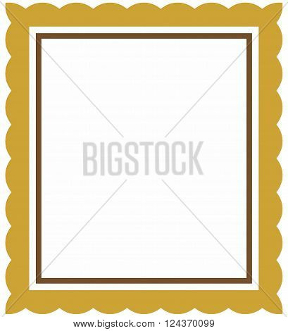 Beautiful gold vector baroque picture frame isolated