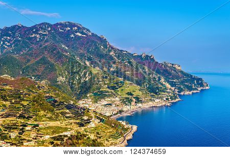 View of the Amalfi Coast from Ravello - Italy