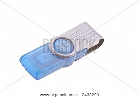 Blue Flash Card isolated