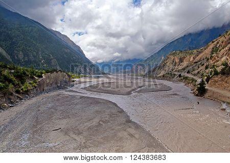 Kali Gandaki Gorge (or Gandaki River), Annapurna conservation area, Nepal