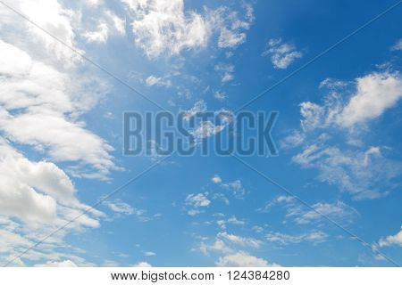 Blue Sky With Clouds Nature For Background