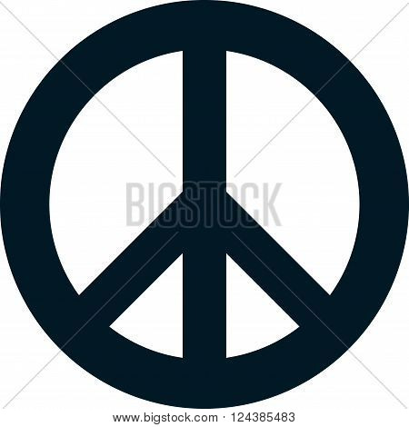 Peace pacifism sign symbol vector isolated on white