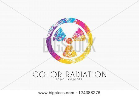 Radiation logo. Color radiation design. Creative logo