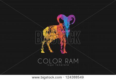 Ram logo design. Color ram. Creative logo