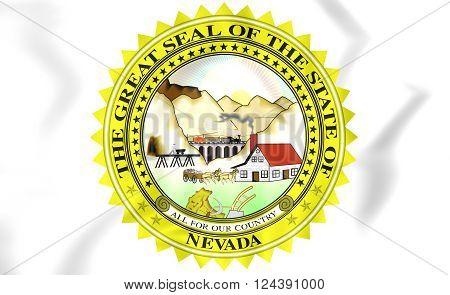 Nevada State Seal, Usa.