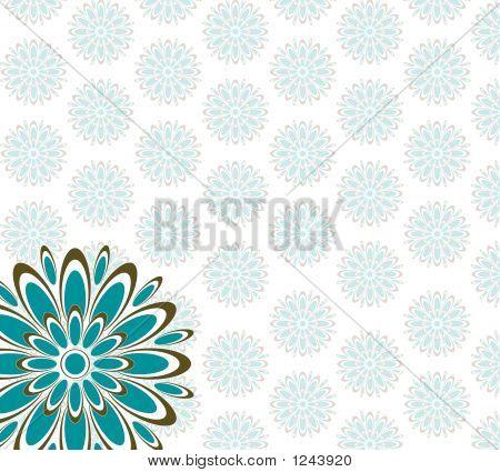 Retro Pattern Blue Brown