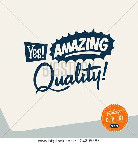 Vintage style Clip Art - Yes! Amazing Quality! - Vector EPS10.