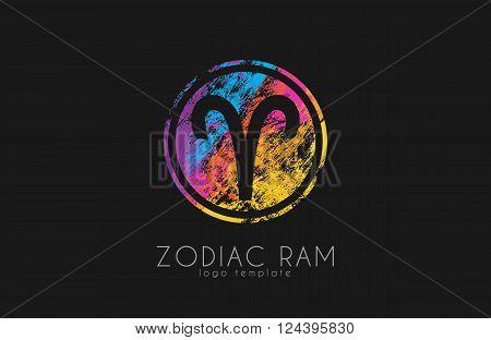 Zodiac ram logo. Ram symbol logo. Creative ram