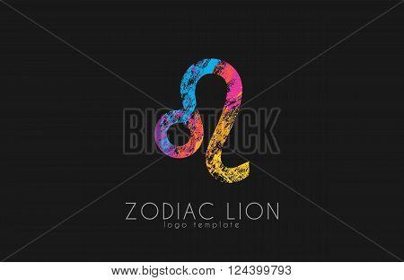 zodiac symbol Leo Lion symbol zodiac. Creative logo design