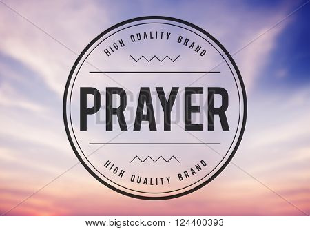Pray Praying Prayer Confession Faith Spiritual Hope Concept poster