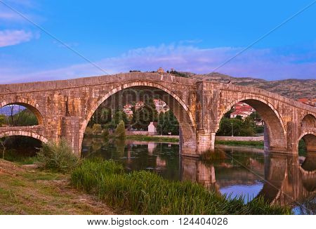 Old bridge in Trebinje - Bosnia and Herzegovina - architecture travel background