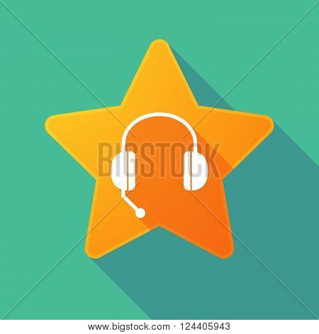 Long Shadow Star With  A Hands Free Phone Device