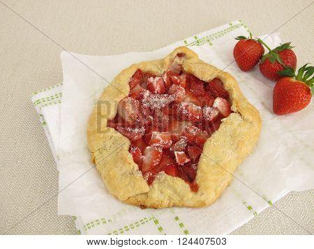Homemade strawberry galette - Strawberries in shortcrust