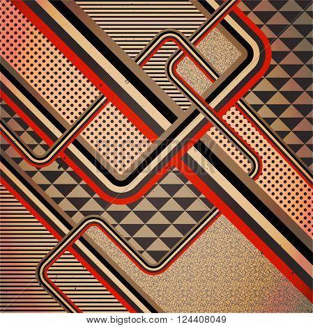 Retro stile abstract background. Illustration 10 version