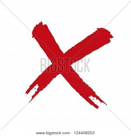 Grunge X On A White Background Stylish Illustration