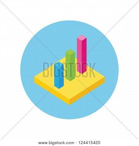 Isometric 3D analysis data. Isometric pie chart flat design. Graph pie, infographics and pie chart, diagram marketing, report data, circle statistic, finance presentation. Set isometric graphs, charts