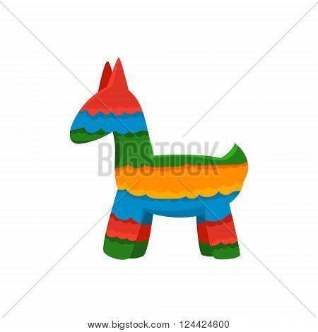 Traditional Mexican Pinata  Isolated Flat Vector Cute Illustration On White Background