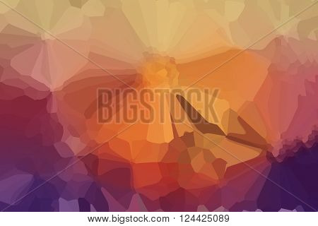 Wonderful Fantasy Mood Abstract Orange Red  Background
