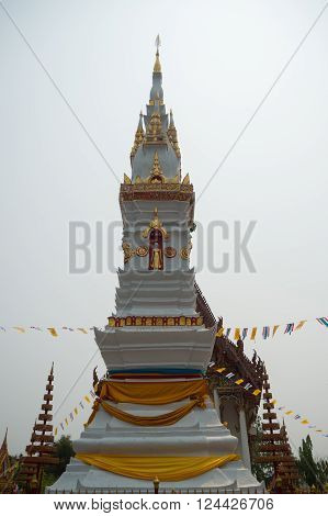 The Amun pagoda buddhism, Yasothorn Thailand Asia poster