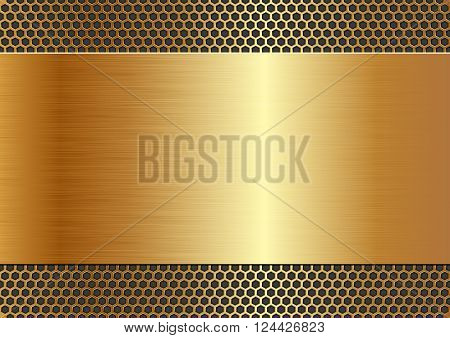 metallic background with texture and copy space