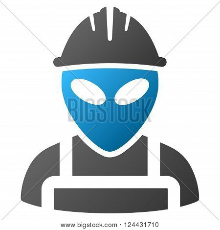 Alien Worker vector toolbar icon for software design. Style is a gradient icon symbol on a white background.