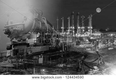 emergency  Vacuum truck  for oil spill  refinery oil plant .