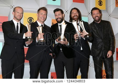 LAS VEGAS - APR 3:  Whit Sellers, Trevor Rosen, Matthew Ramsey, Brad Tursi, Geoff Sprung, Old Dominion at the 51st ACM Awards at the MGM Grand Garden Arena on April 3, 2016 in Las Vegas, NV