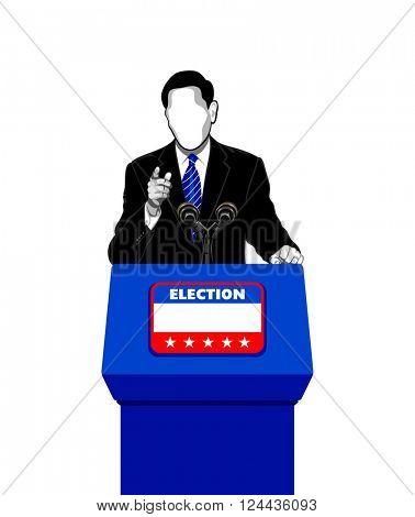 Politician giving an election campaign speech